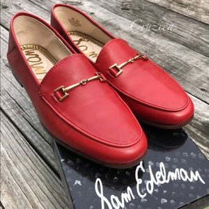 Sam Edelman Loraine Loafers Red Size 6.5